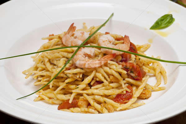 A first course dish with pasta and vegetables Stock photo © AlessandroZocc