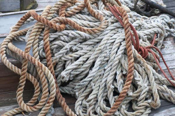 Touwen zeil boot macht stropdas zeilboot Stockfoto © AlessandroZocc