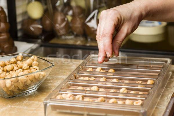Ingredientes preparação frutas comida chocolate Foto stock © AlessandroZocc
