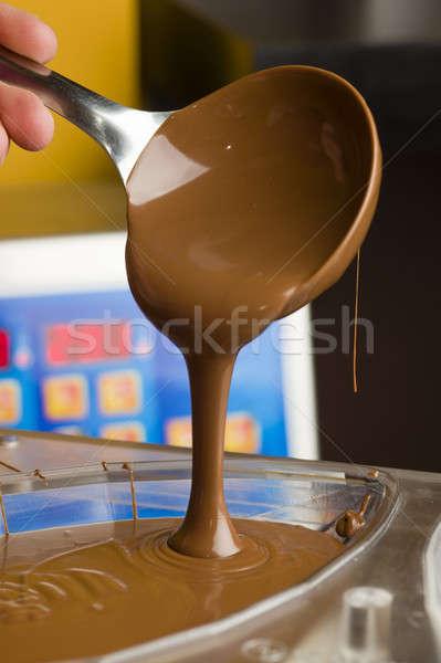 Ingrediënten voorbereiding gemengd chocolade bar Stockfoto © AlessandroZocc