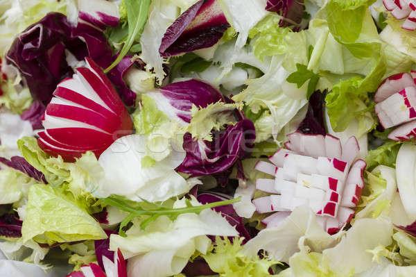 混合した 新鮮な サラダ カラフル 切り 食品 ストックフォト © AlessandroZocc
