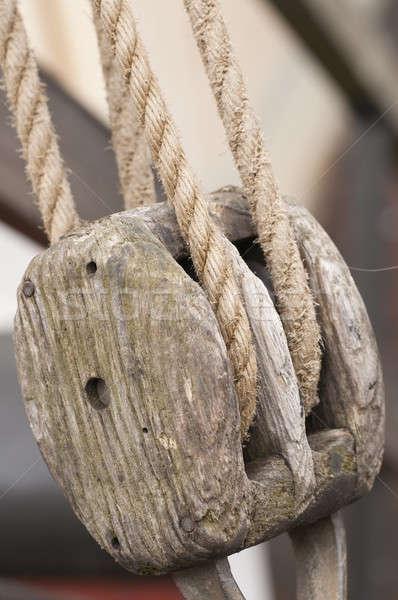 Touw zeil boot macht stropdas zeilboot Stockfoto © AlessandroZocc