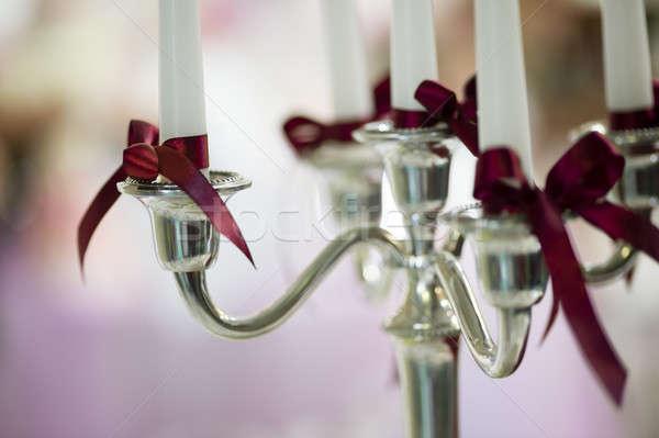 Candle decoration detail Stock photo © AlessandroZocc