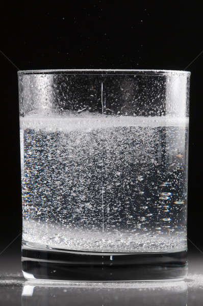 Effervescent pill in a glass of water Stock photo © AlessandroZocc