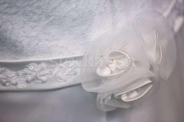 Zasłona dekoracji kobieta suknia ślubna tekstury człowiek Zdjęcia stock © AlessandroZocc