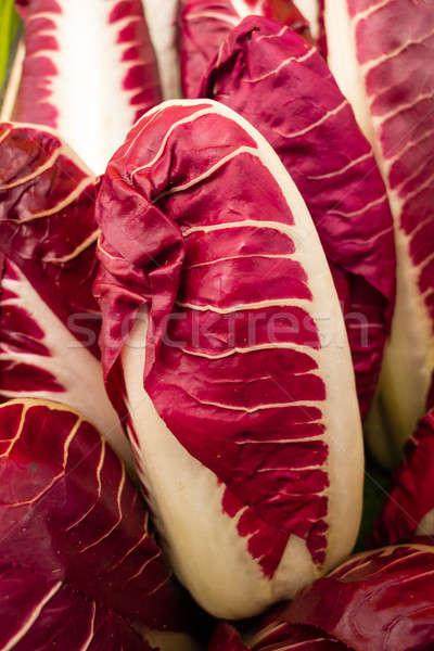 Włoski Sałatka liści warzyw żywności czerwony Zdjęcia stock © AlessandroZocc