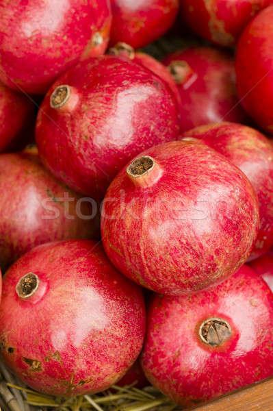 Pomegranates on display Stock photo © AlessandroZocc