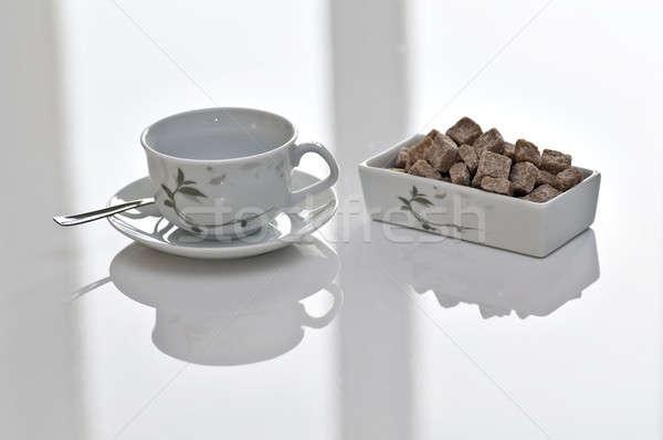 Cassonade détendre temps fenêtre tasse Photo stock © AlessandroZocc
