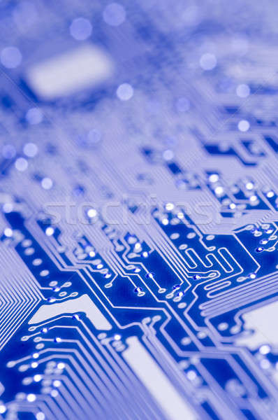 Blue and white Electronic board  Stock photo © AlessandroZocc