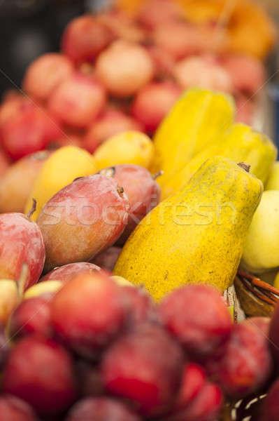 świeże data owoce Widok rynku owoców Zdjęcia stock © AlessandroZocc