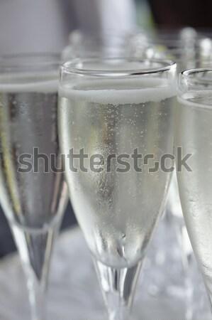 Pić napój flet okulary Zdjęcia stock © AlessandroZocc