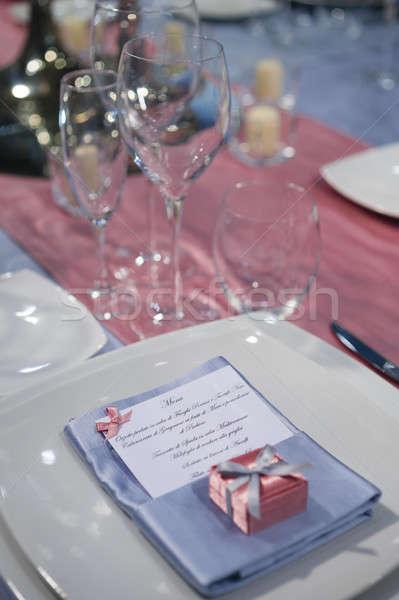 элегантный церемония таблице свадьба продовольствие Сток-фото © AlessandroZocc