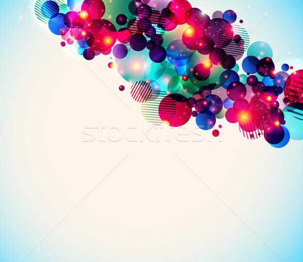 Elegancki plakat kontrast błyszczący puszka używany Zdjęcia stock © alevtina