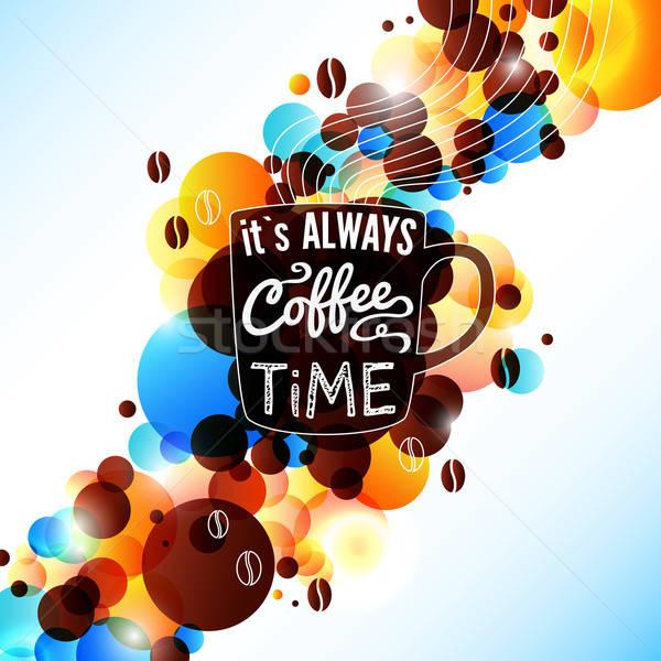 Parlak kahve parlama etki güzel reklam Stok fotoğraf © alevtina