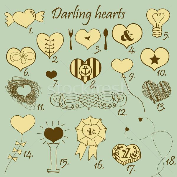 Darling hearts Stock photo © alevtina