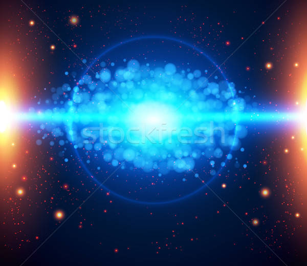 Abstract cosmic light background. Stock photo © alevtina