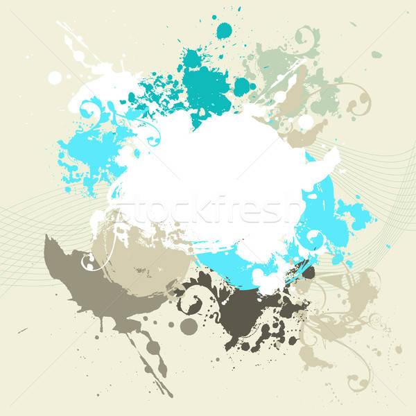 Résumé carte grunge peinture fond Photo stock © alevtina