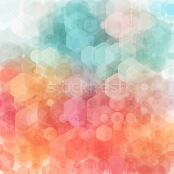 抽象的な 幾何学的な テクスチャ ファブリック 印刷 色 ストックフォト © alevtina