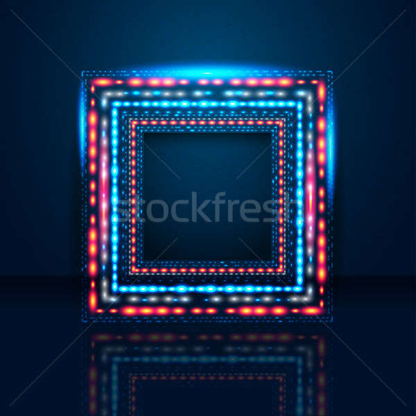 Elegant blue background with shiny frame and place for Your text Stock photo © alevtina