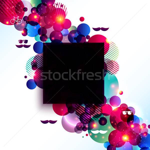 Elegancki plakat kontrast błyszczący puszka Zdjęcia stock © alevtina