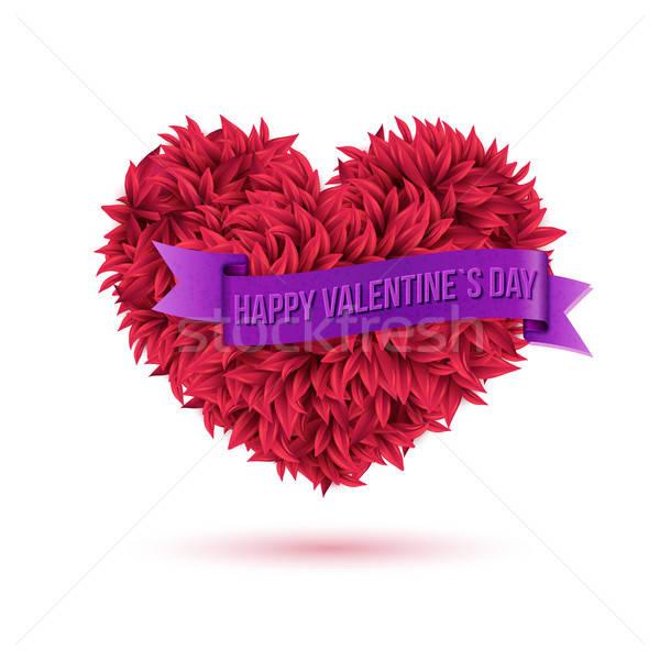 Simple heureux saint valentin violette ruban Photo stock © alevtina