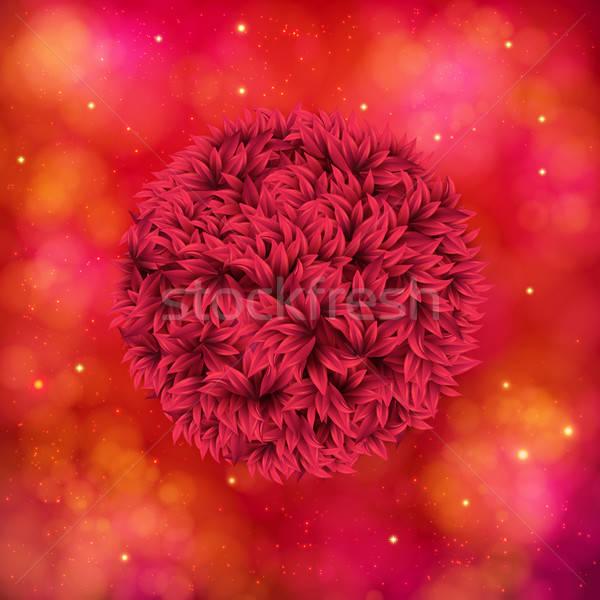 Rood bloem abstract oranje roze aantrekkelijk Stockfoto © alevtina