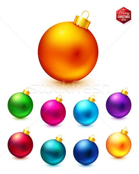Réaliste coloré Noël heureux Photo stock © alevtina