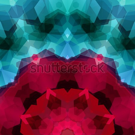 Retro pattern made of hexagonal shapes. Mosaic background gem co Stock photo © alevtina