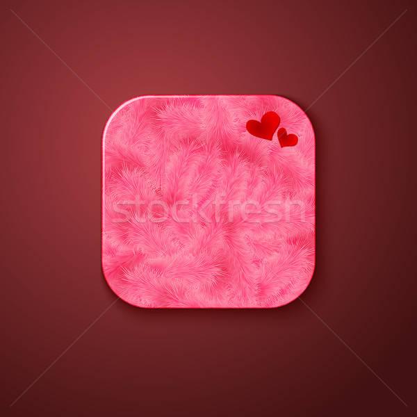 Pluizig textuur icon gestileerde zoals mobiele Stockfoto © alevtina