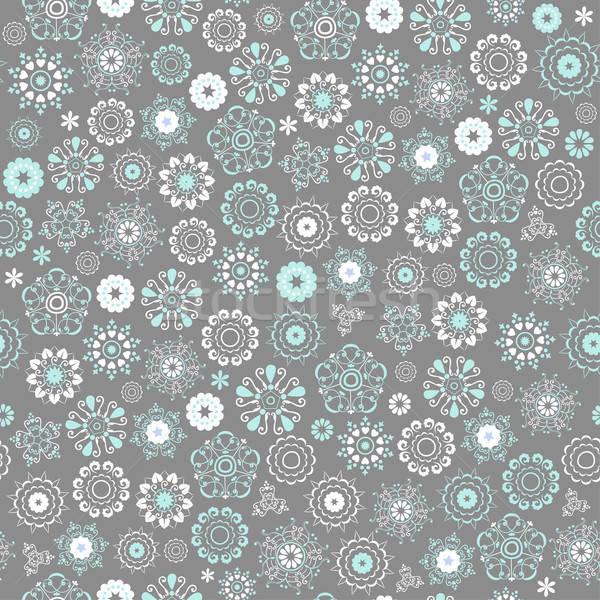 Stok fotoğraf: Kış · model · stilize · kar · taneleri · vektör