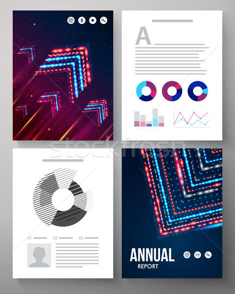 Dynamic vector template for an annual report Stock photo © alevtina