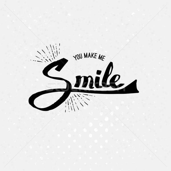 単純な 私に 笑顔 黒 色 ストックフォト © alevtina