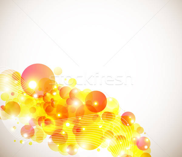 Page layout for your presentation in bright, warm colors. Stock photo © alevtina