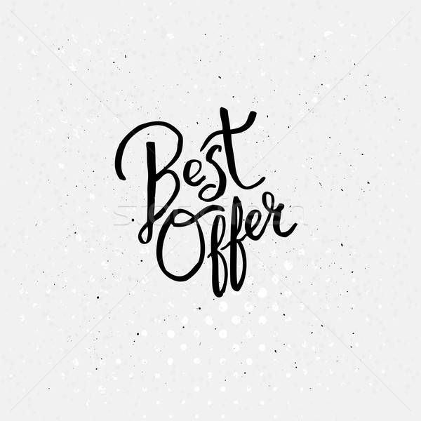 Handwriting Design for Best Offer Concept Stock photo © alevtina
