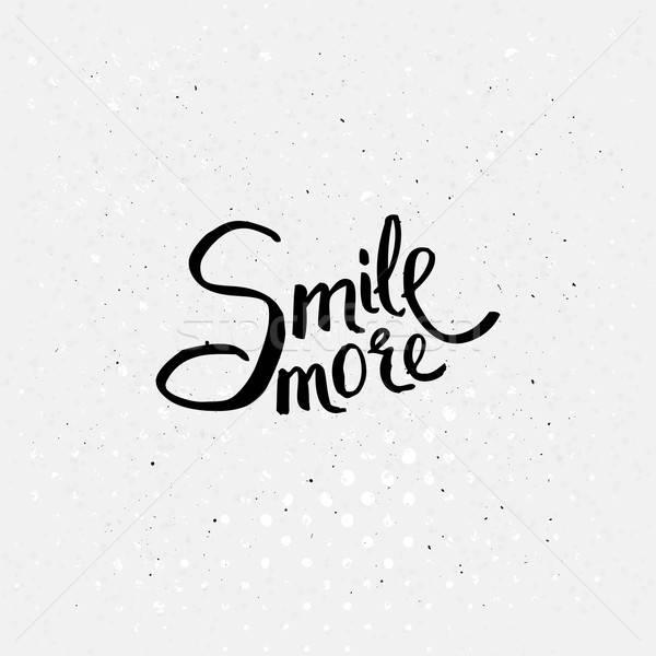 Noir sourire plus simple blanche Photo stock © alevtina