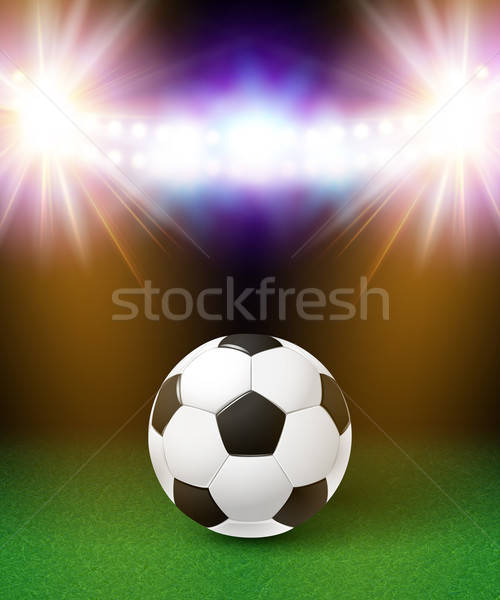 Abstract voetbal voetbal poster stadion heldere Stockfoto © alevtina