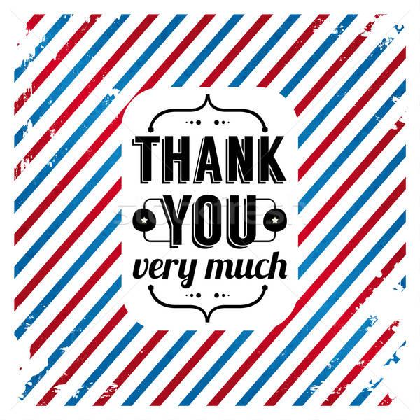 Obrigado cartão tricolor grunge gratidão clientes Foto stock © alevtina