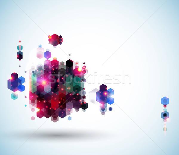 Streszczenie strona układ prezentacji geometryczny Zdjęcia stock © alevtina