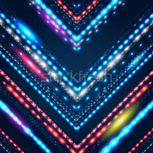 Meetkundig gestileerde pijl Blauw elegante Stockfoto © alevtina