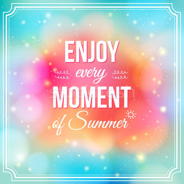 élvezi pillanat nyár pozitív fényes pezsgő Stock fotó © alevtina