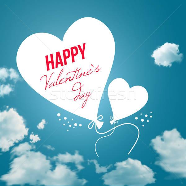バレンタインデー カード 空 背景 ヴィンテージ 白 ストックフォト © alevtina