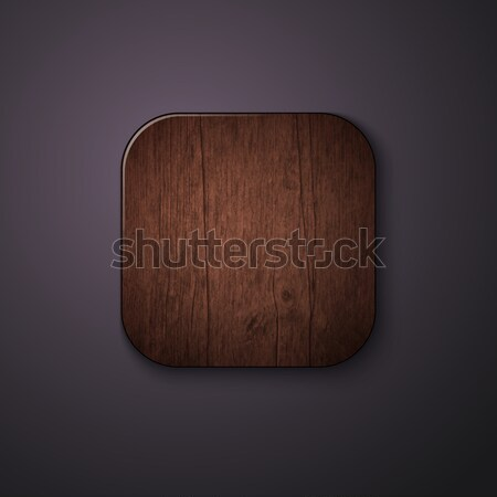 Wooden texture icon stylized like mobile app. Vector illustratio Stock photo © alevtina