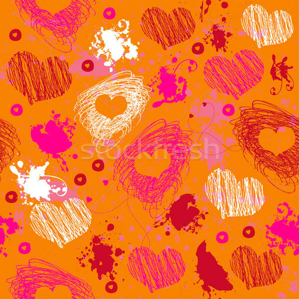 оранжевый текстуры сердцах ярко Сток-фото © alevtina