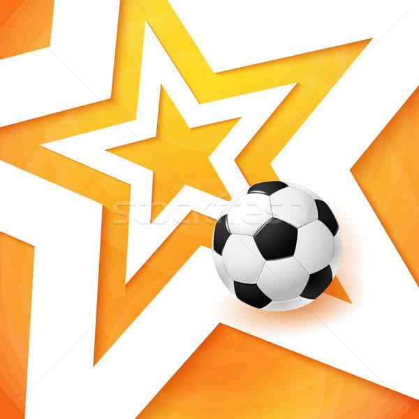 Voetbal voetbal poster heldere oranje witte Stockfoto © alevtina