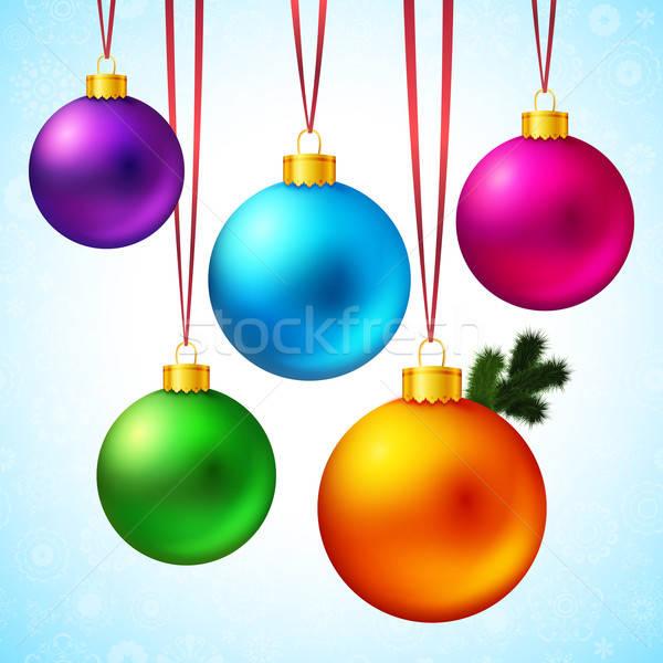 Cinquième réaliste coloré Noël Photo stock © alevtina