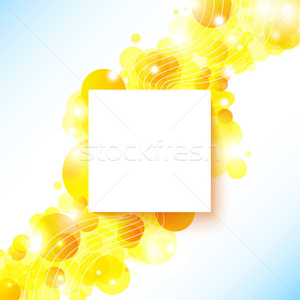 Bright and sunny poster with a place for Your text. Stock photo © alevtina