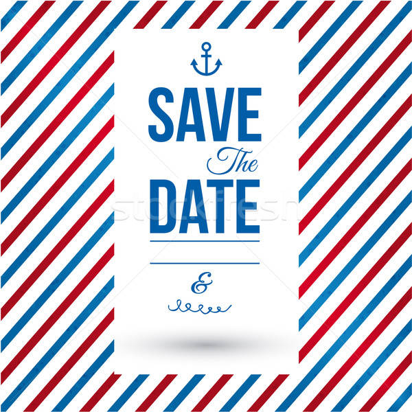 Guardar fecha personal vacaciones invitación de la boda vector Foto stock © alevtina