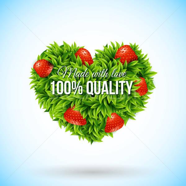 формы сердца Label бизнеса вектора весны природы Сток-фото © alevtina