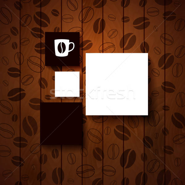 Design template for Your coffee shop.  Stock photo © alevtina