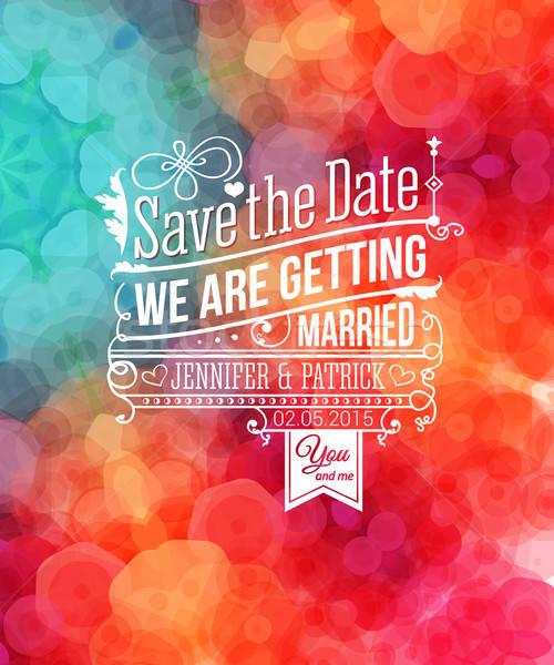 Mettre date personnelles vacances invitation de mariage vecteur Photo stock © alevtina